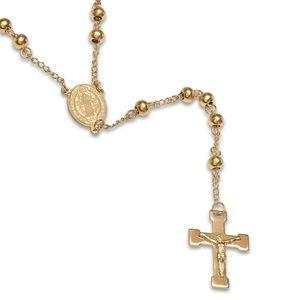 Jewelry - NWT 18k gold Beaded Rosary